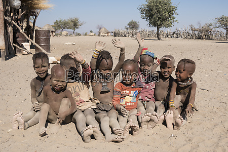 dusty young children of the village