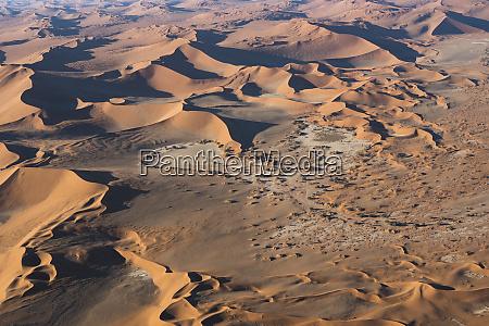 aerial, view, over, sossusvlei, sand, dunes - 27745688