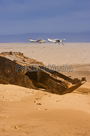 namibia two small airplanes on the