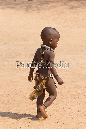 himba child in the village damaraland
