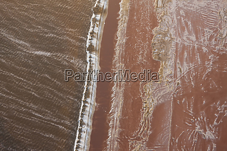 swakopmund saltworks aerial view namibia