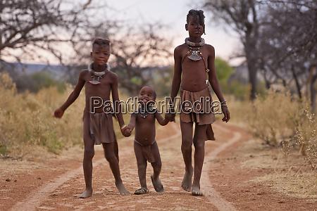 himba children kaokoland namibia