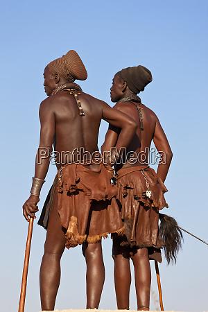 himba tribes people kaokoland namibia africa