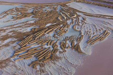 swakopmund, saltworks, , aerial, view, , namibia - 27746492