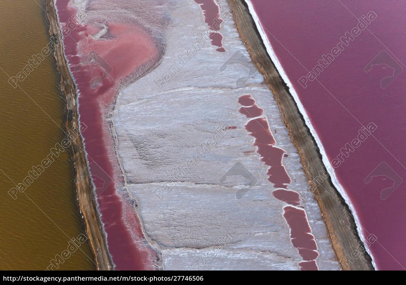 swakopmund, saltworks, , aerial, view, , namibia - 27746506