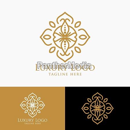 luxury logo template vintage badge frame