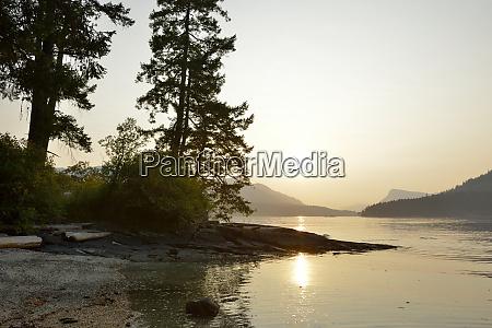 canada british columbia russell island sun
