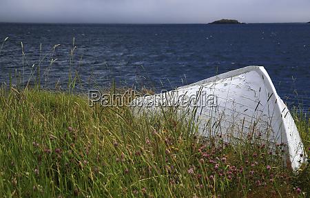 canada newfoundland old boat in trinity