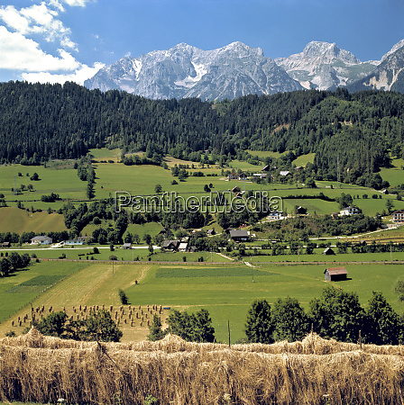 europe austria inn river valley hay