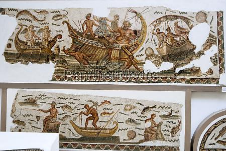 roman mosaics the voyage of bacchus