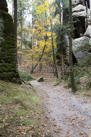 czech republic bohemia prachov rocks and