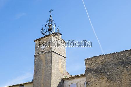 france provence luberon menerbes clock tower