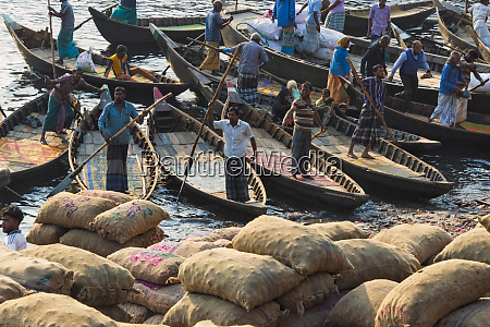 ferry boats on buriganga river and