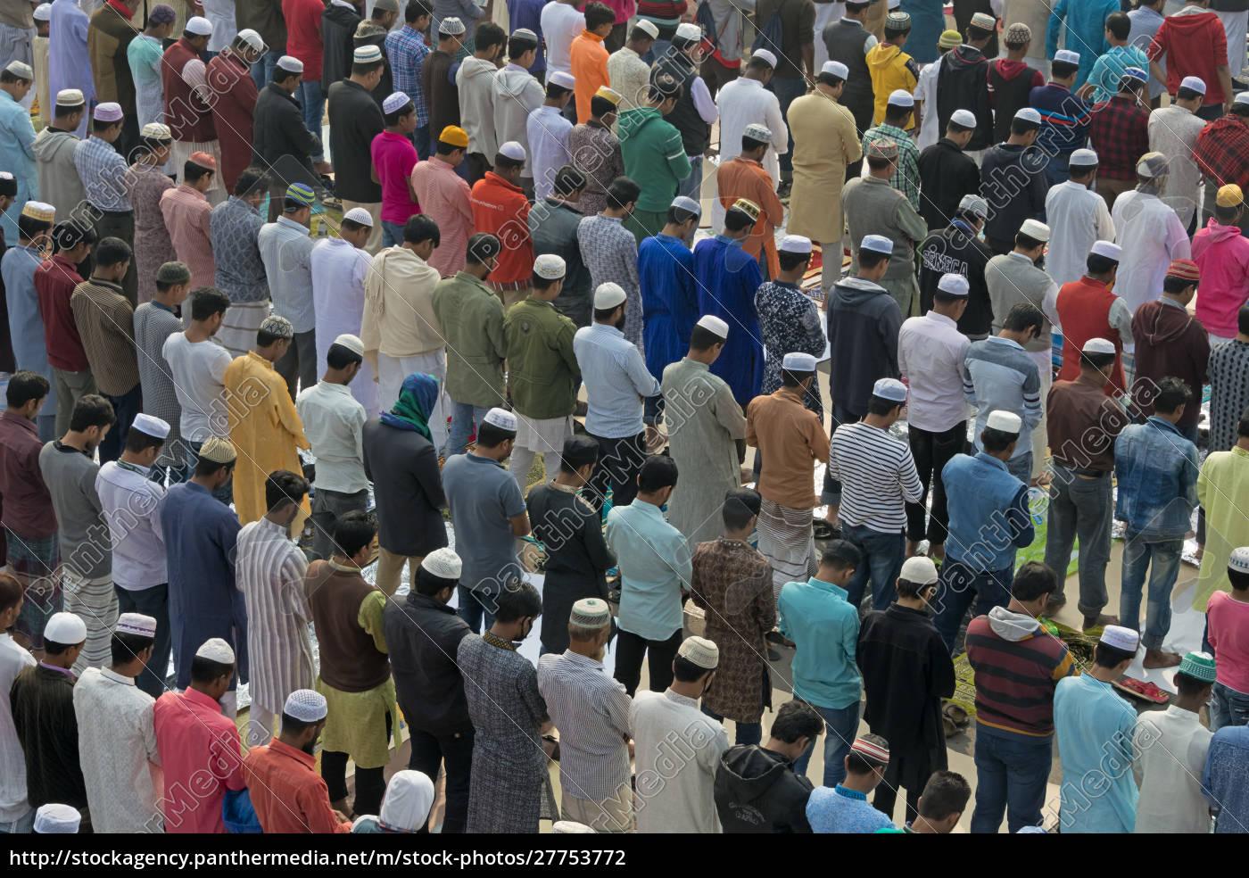 pilgrims, praying, at, bishwa, ijtema, , dhaka, - 27753772