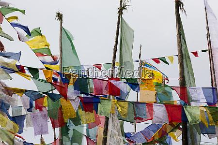 asia bhutan prayer flags