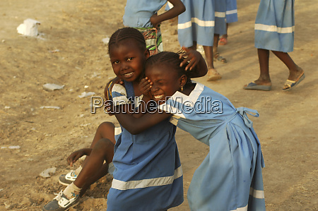 cameroon maga two african young girls
