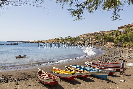 fishing boats on beach cidade velha