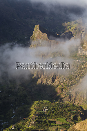 valley view and clouds santo antao