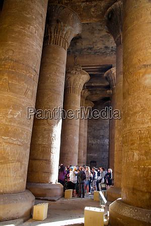 africa egypt edfu tourist group in