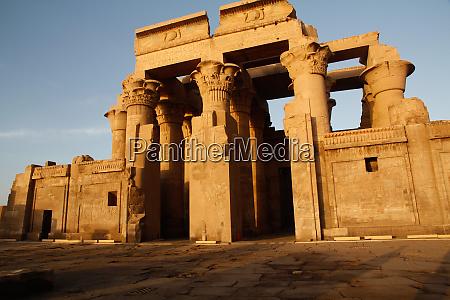 africa egypt kom ombo sunset at