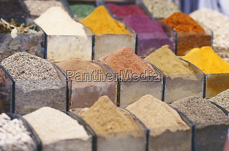 egypt aswan spices in market large