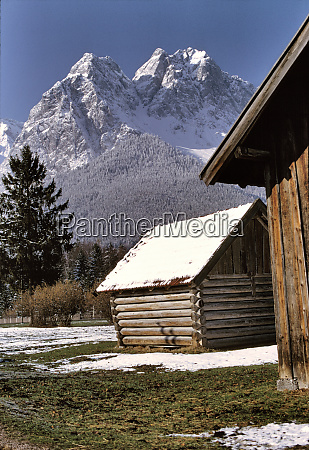 germany bavaria zugspitze a light snow