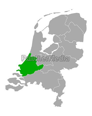 map of south holland in netherlands