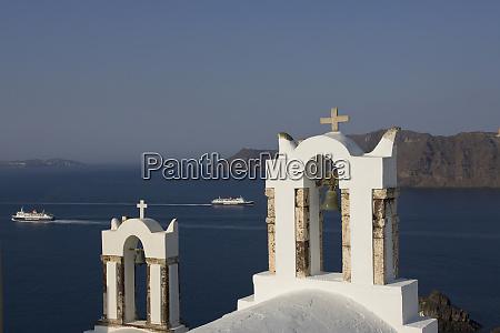 greece santorini thira oia two greek