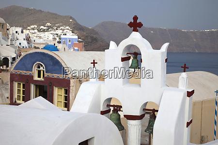 greece santorini bell tower in town