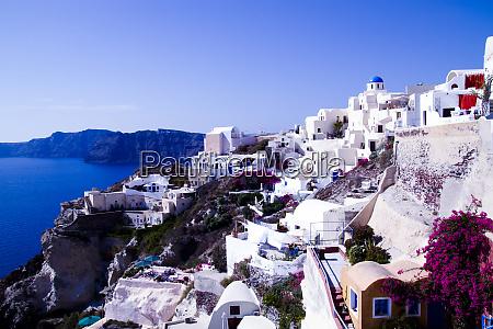 oia greece greek orthodox church blue