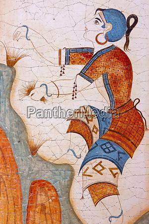 mural on a house oia santorini