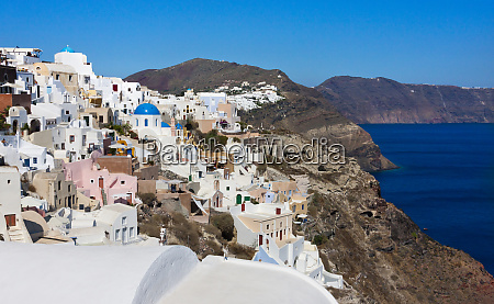 white houses on the coast of
