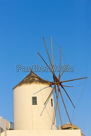 windmill on the coast of aegean