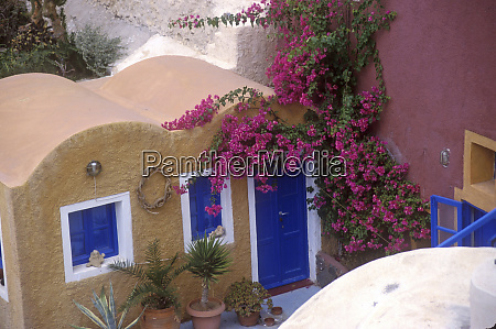 greece santorini oia typical architecture and
