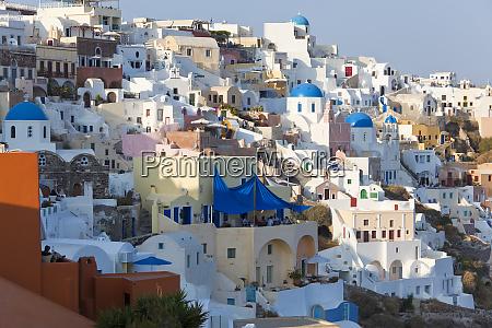 the village of oia santorini cyclades