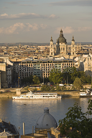 hungary budapest view of central budapest