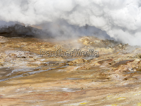 geothermal area gunnuhver reykjanes peninsula during