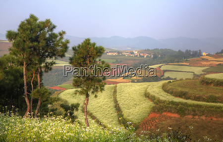 china kunming dongchuan red land area