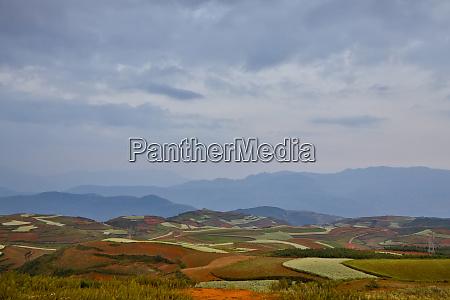 kunming dongchuan red land area landscape