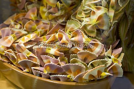italy venice multicolored bow tie pasta