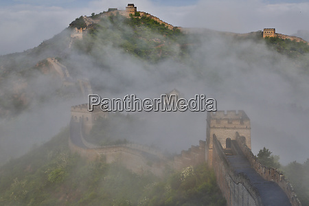 great wall of china on a