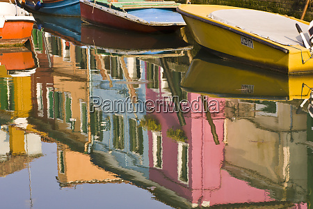 italy burano boats on a canal