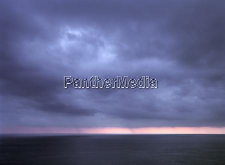europe italy ligurian coast rain falls