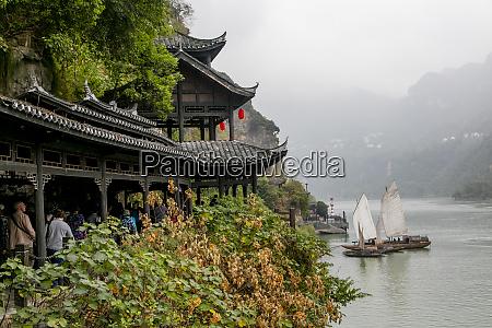 sailing chinese junk boat shennong stream