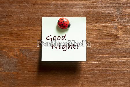 the phrase good night