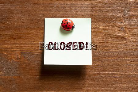 the phrase closed
