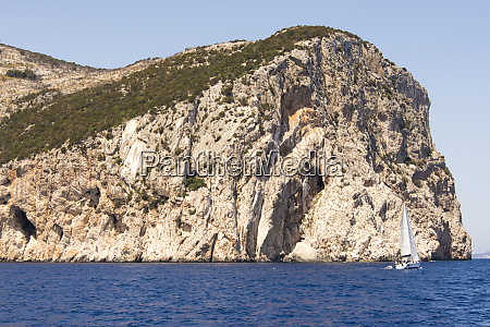 italy sardinia capo figari headland and