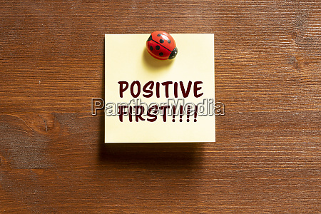 the phrase positive first
