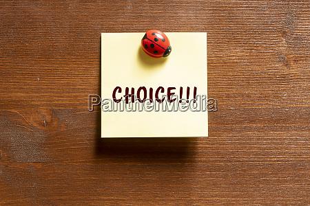 the phrase choice