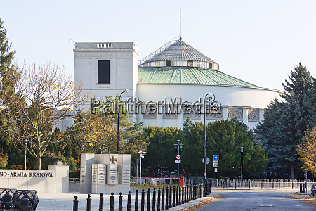 building of sejm of the republic
